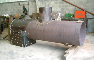 The new boiler for the Greensands Railway Museum Trust's Baldwin No. 778