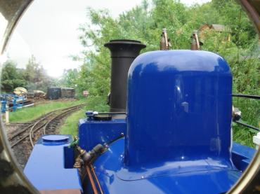 View from the footplate
